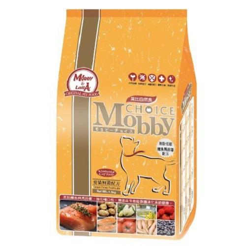 莫比Mobby《愛貓無穀配方-鱒魚馬鈴薯》貓飼料-3kg『WANG』