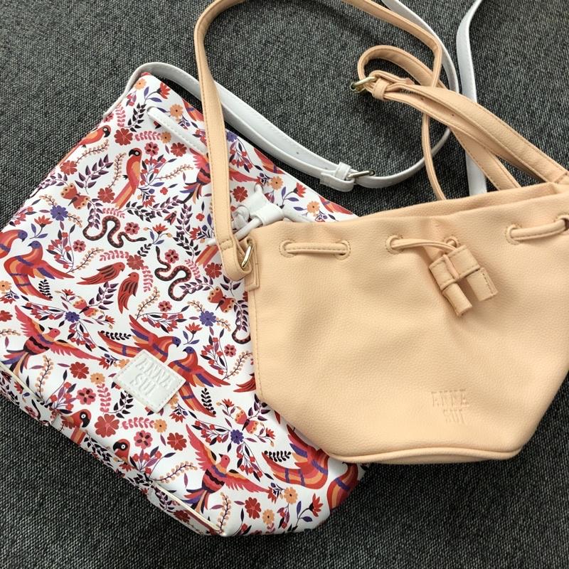 「現貨」Anna Sui 安娜蘇束口水桶包/側背包/斜背包