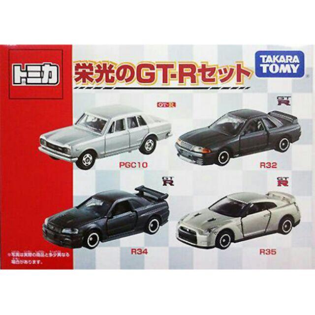 TOMICA tomy takara 多美小汽車 榮光 GT-R (4入) 套組 GTR/ TAKARA TOMY 全新