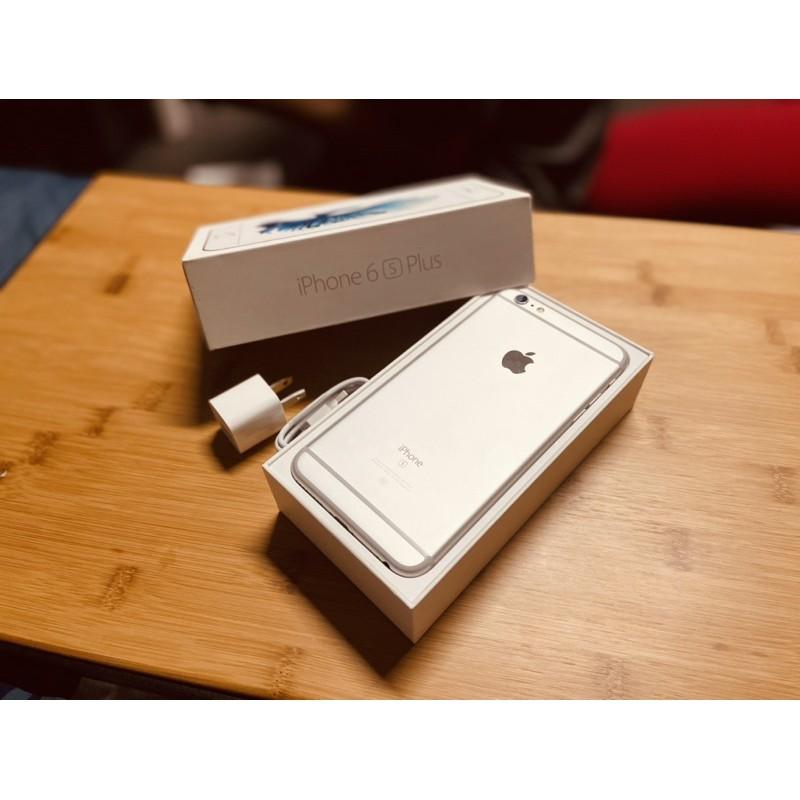 [二手]Iphone 6s plus銀色 64g 附全新原廠iphone充電頭 iphone充電線