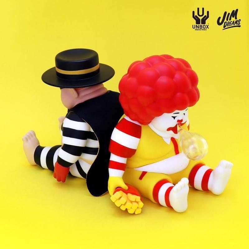 無袋無盒 麥當勞 漢堡神偷 Jim Dreams chunk unbox 大小胖子 肥仔 麥胖 打瞌睡 設計師 公仔