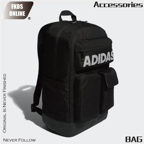 Adidas 愛迪達 CL 3D POCKETS 經典排字 3D LOGO 雙肩後背包 大背包 後背包 ED6878