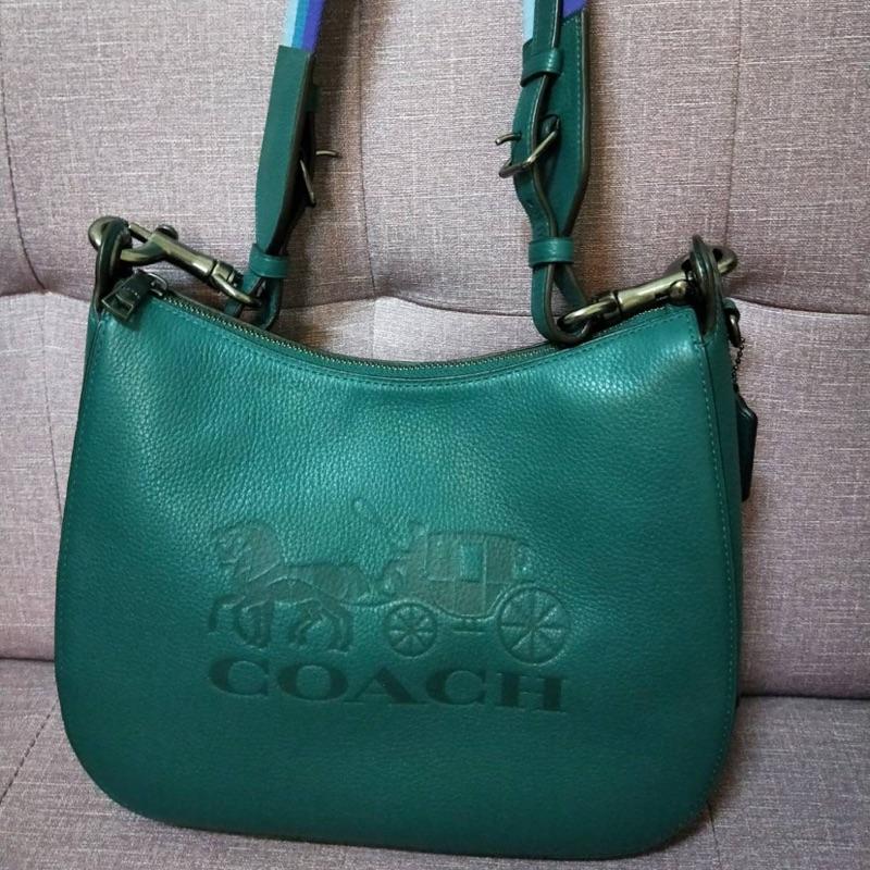 全新coach綠色背包 斜背包側背包肩背包