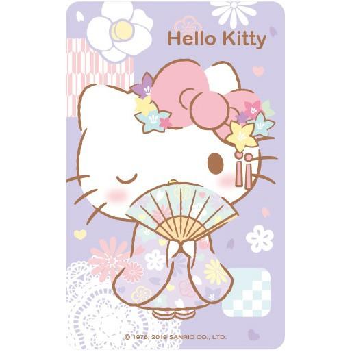 【動一動商城】三麗鷗和風系列悠遊卡-HELLO KITTY