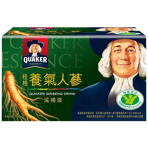 桂格 養氣人蔘滋補液 60mlX6入/盒 (有糖/無糖)