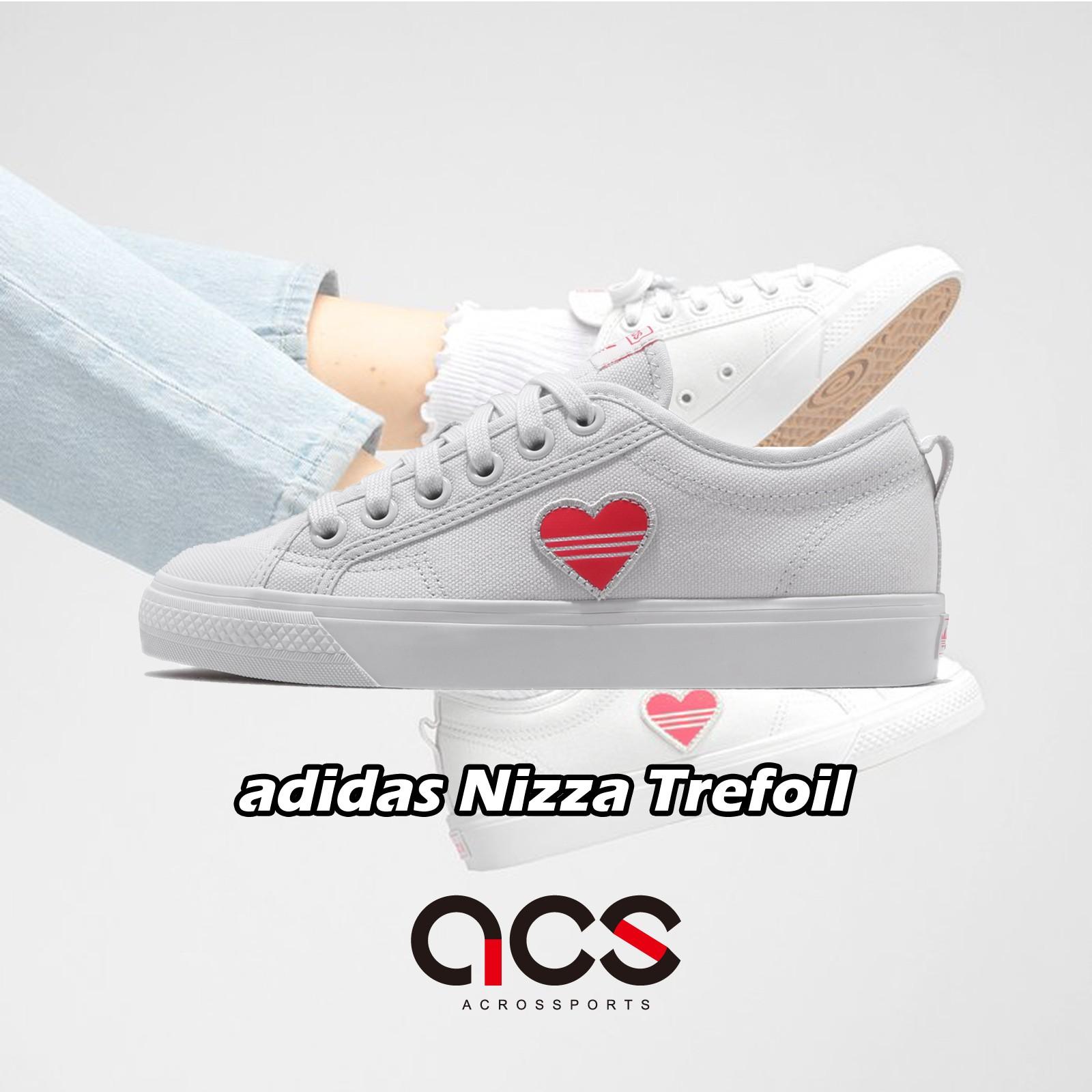 adidas 休閒鞋 Nizza Trefoil W 白 紅 愛心 情人節 女鞋 EF5074 【ACS】
