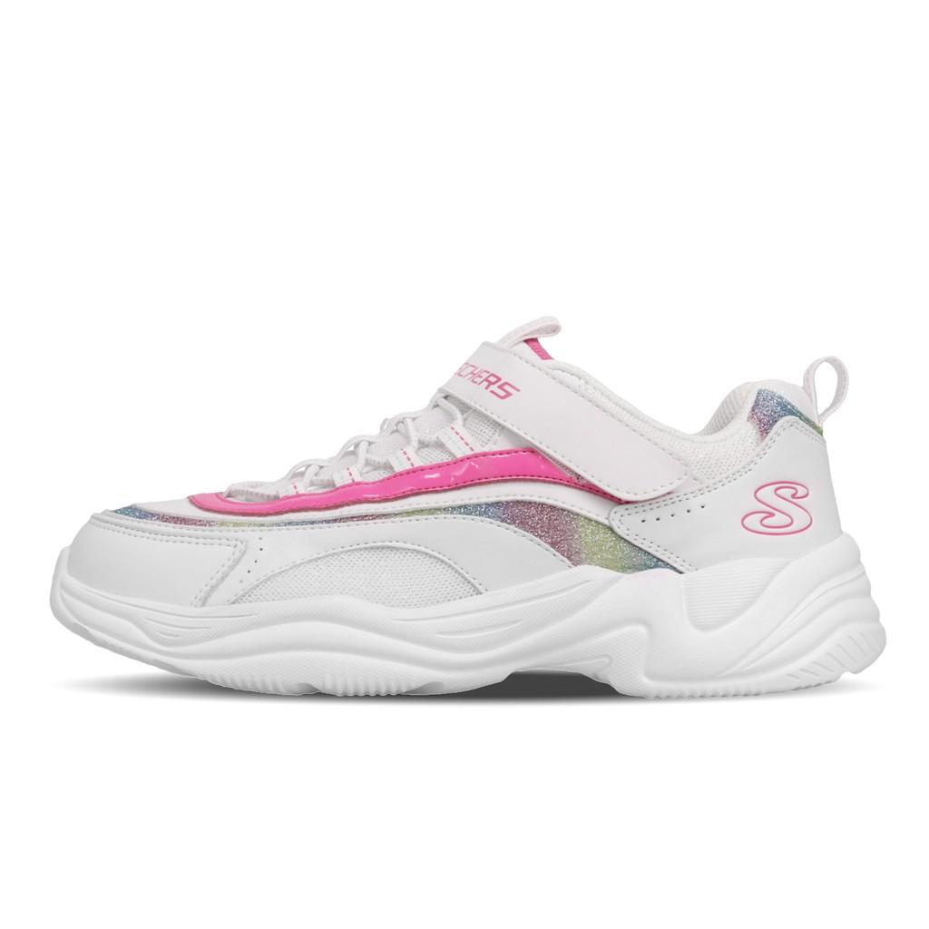 Skechers 休閒鞋 Lite Styles 白 粉紅 女鞋 大童鞋 中童鞋 80764LWMLT 【ACS】