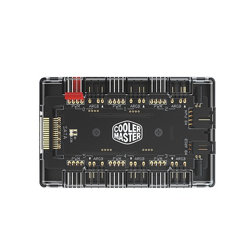 Cooler Master ARGB燈光PWM風扇1對6集線器