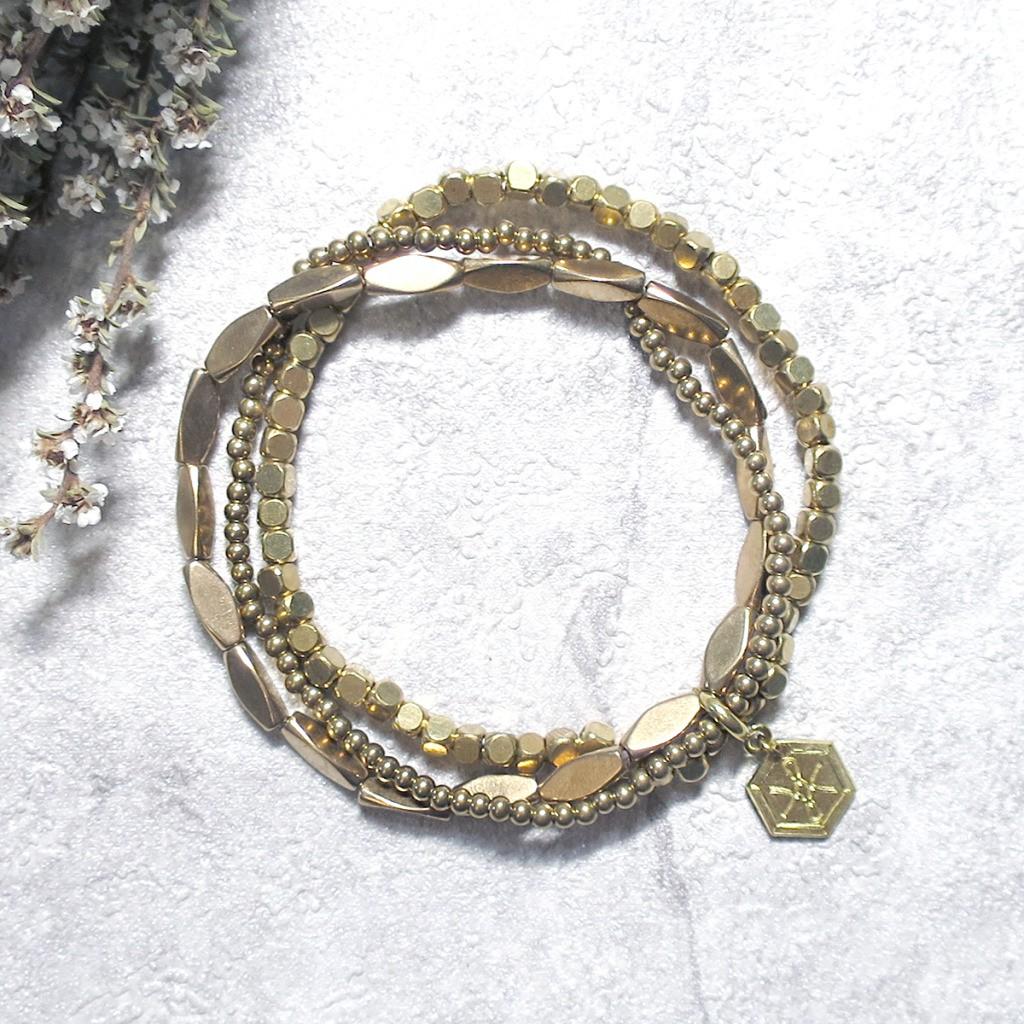 VIIART【變幻II】百搭基礎款黃銅手環