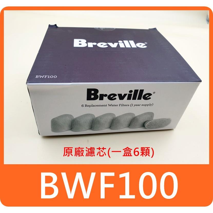【 breville 原廠濾心6顆裝/現貨】咖啡機 濾心 濾芯 BWF100 可適用 BES980XL BES920XL