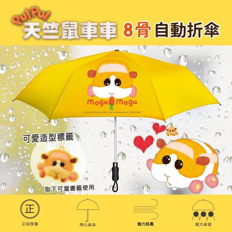 🇹🇼正版授權 快速出貨🔥PulPul天竺鼠車車 大傘面自動傘 遮陽傘 自動摺疊傘  加大傘面 雨傘 自動