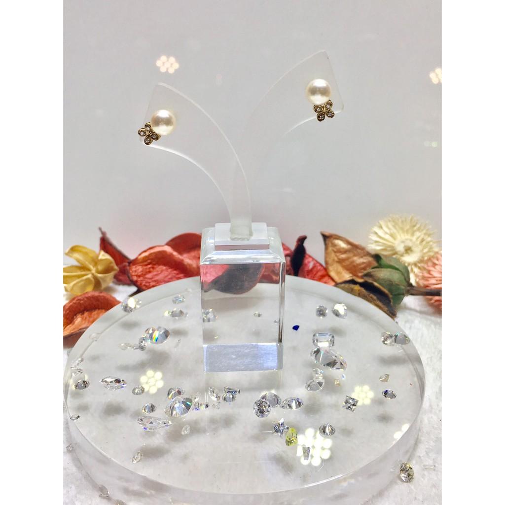 「K金耳環」典雅珍珠耳環