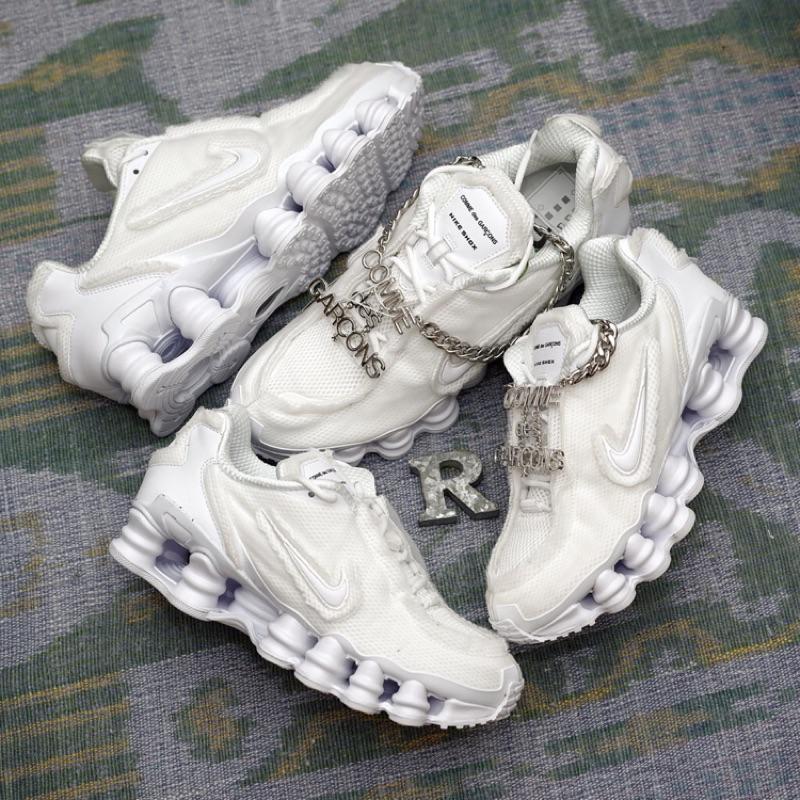 R'代購Comme des Garçons川久保玲 Nike Shox TL 白銀金屬彈簧CDG CJ0546-100