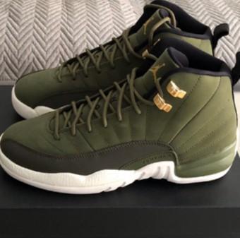 全新 Air Jordan 12 Chris Paul 橄欖綠 金釦 籃球鞋 運動鞋 男鞋 女鞋 130690