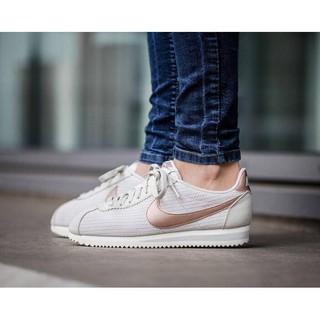 全新正品 Nike Wmns Classic Cortez Leather Lux 阿甘鞋 米白玫瑰金 女鞋【#9863