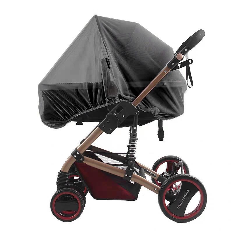 【嬰兒車防蚊】 嬰兒手推車蚊帳 童車通用型 嬰兒車寶寶推車全罩式蚊帳加大加密