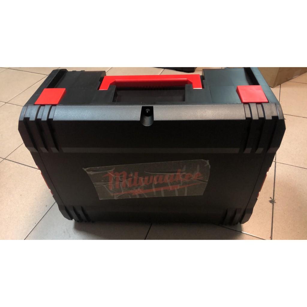 ~工具小妹~ Milwaukee 米沃奇 工具箱含內襯(可拿起) 大號厚 零件箱 收納 分類 整理 可堆疊 攜行箱