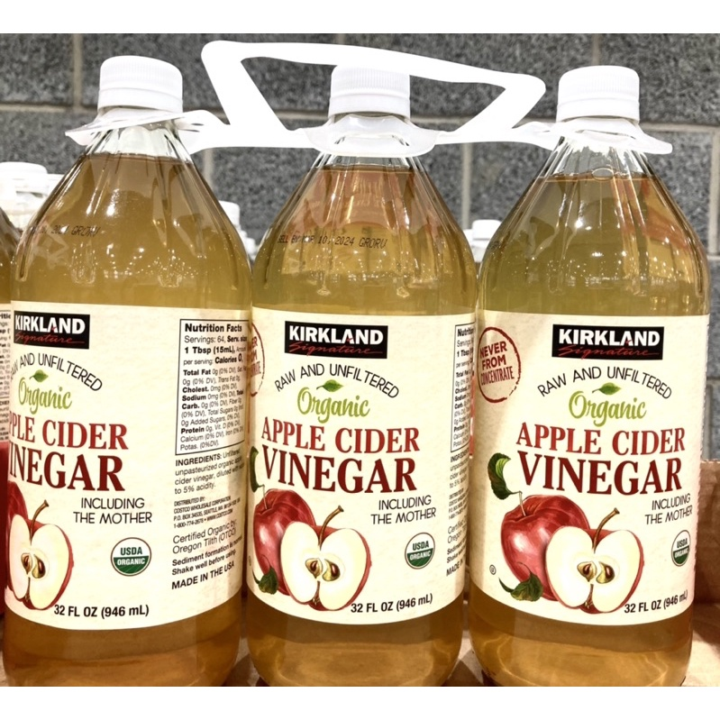 COSTCO代購 Kirkland Signature 科克蘭 有機蘋果醋946毫升*1瓶