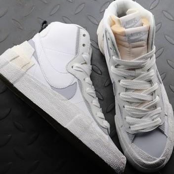 現貨  Sacai x Nike Blazer Mid Black Blue 灰白 高筒