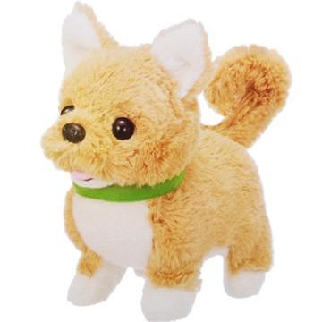 【蒲公英當天出貨】IWAYA電動絨毛搖尾寵物柴犬紅貴賓博美吉娃娃