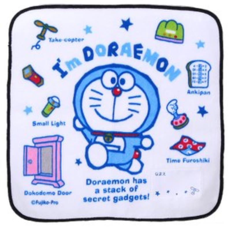🇯🇵《麵包超人.歡樂屋》哆啦A夢 棉質圓角小方巾、手帕、小手帕