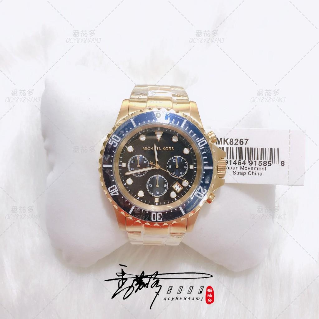 番茄多🍅代購MICHAEL KORS手錶 MK8267 MK8311 MK8256水鬼系列三眼計時金色不銹鋼錶帶腕錶