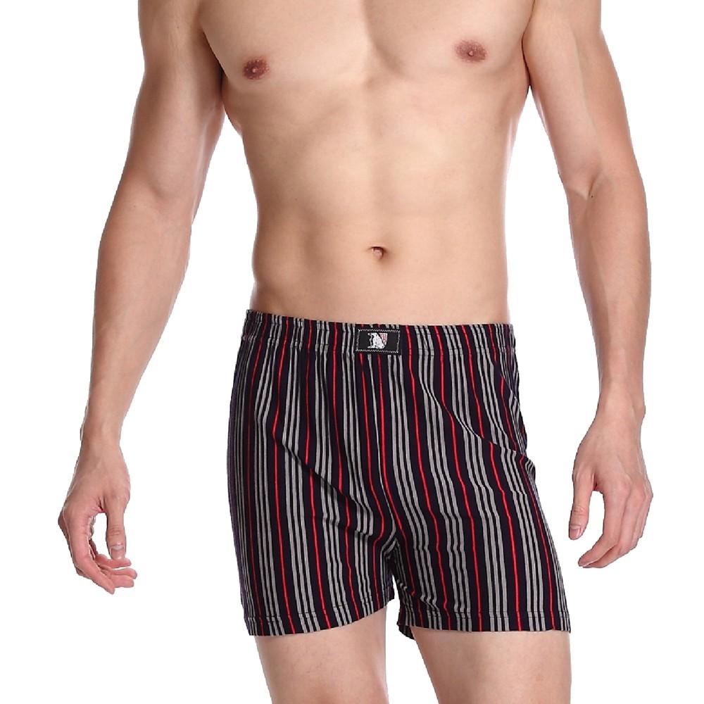 LIGHT&DARK 類蠶絲複合纖維條紋平口褲(4件組)