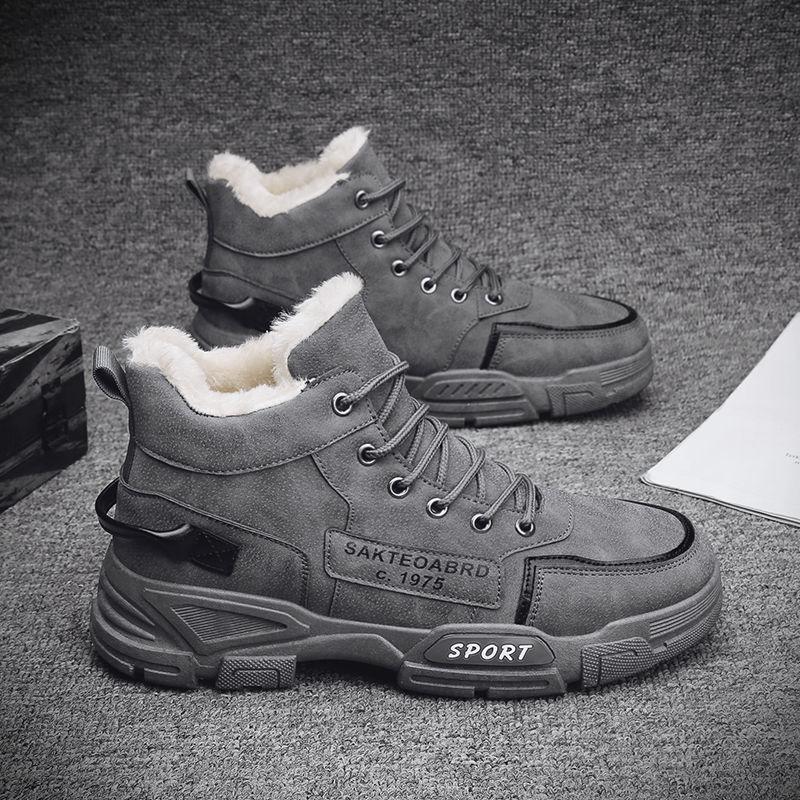 「W.Y.」帥氣短靴/騎士靴/馬丁靴/加絨保暖短靴/韓版高幫軍靴/加絨雪地靴-3色/39-44