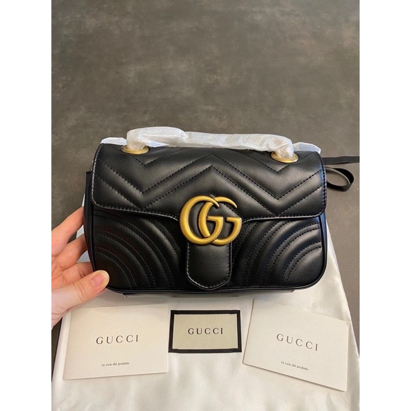 [Double A👩‍👧‍👧]Gucci 馬夢鏈包 22公分