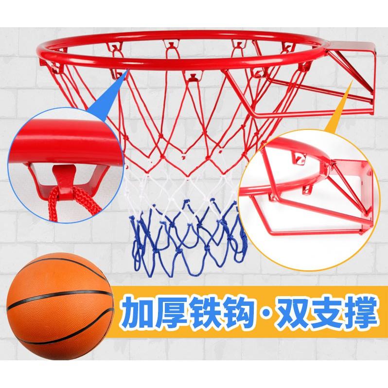 爆款-宏登室內成人籃球框標準籃球戶外藍球圈壁掛式投籃架板兒童 5號球