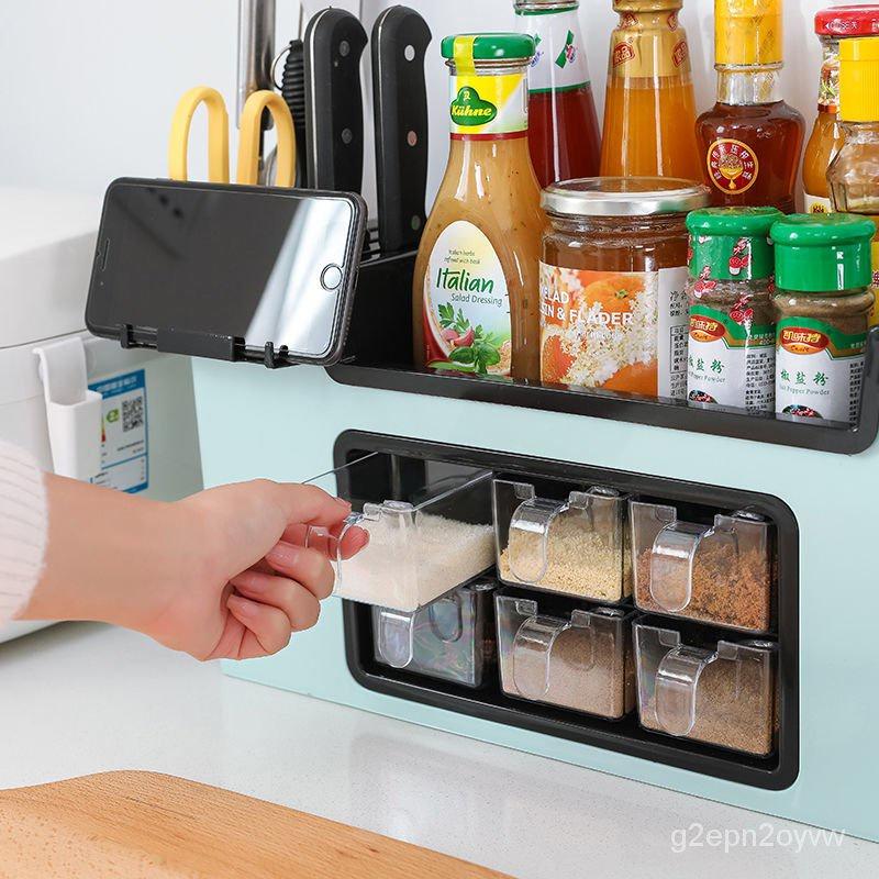 9月新貨多功能調料盒置物架調料瓶收納架調味罐收納盒調味品廚房用品套裝g2epn2oyvw Caoe