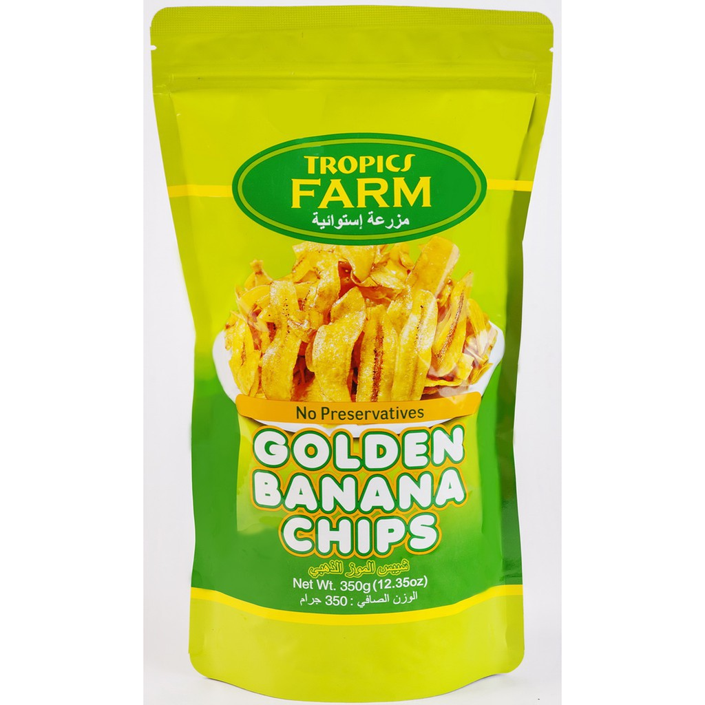 TROPICS FARM Golden Banana Chips 香蕉脆片 350g