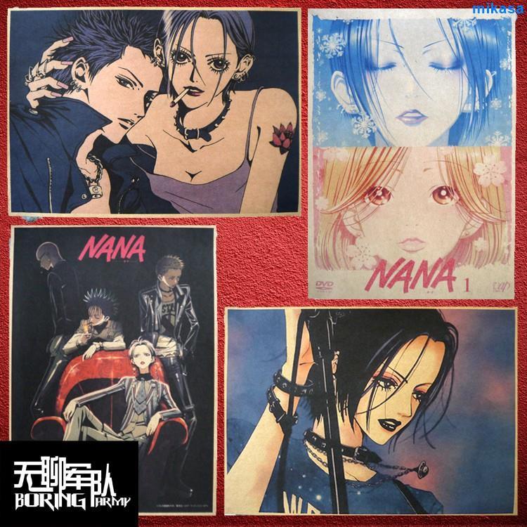 【勁爆特賣】重磅 優選 NANA娜娜 矢澤愛日本漫畫牛皮紙海報裝飾畫酒吧照片相框墻貼紙