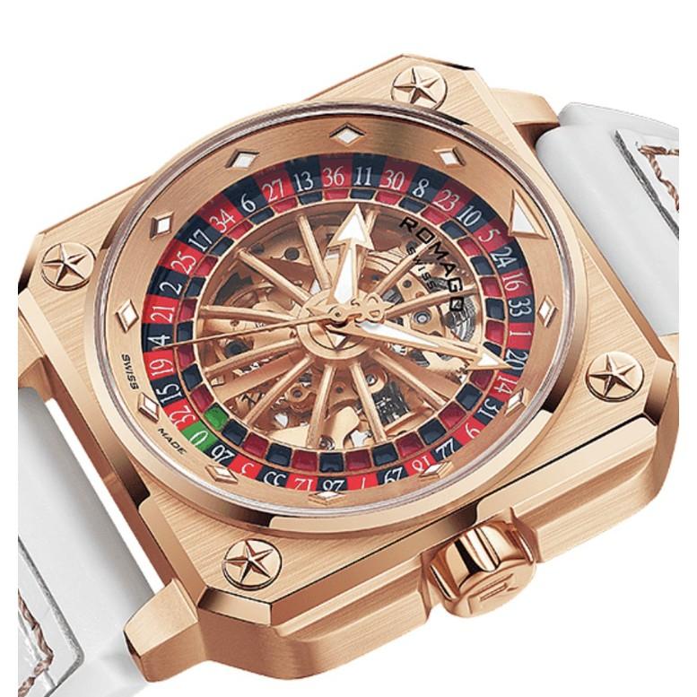 ROMAGO SWISS 瑞士雷米格帝霸鏤空自動機械旋轉輪盤腕錶| 蝦皮購物