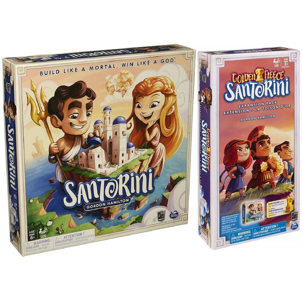 【正版桌遊。送牌套】Santorini 聖托里尼-主遊戲+金羊毛擴充《附海洋板塊》英文版