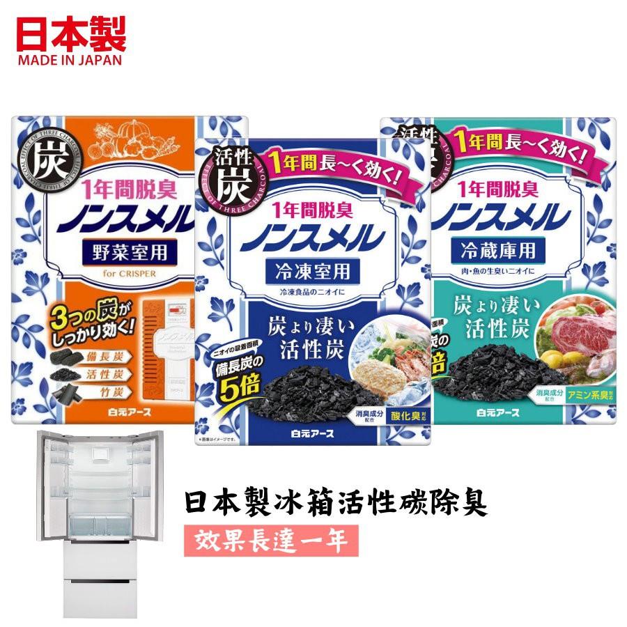 🚚現貨🇯🇵日本製冰箱除臭盒 活性碳 冷凍庫 冷藏室 蔬果室  白元消臭劑 廚房除臭 廚餘 一年有效