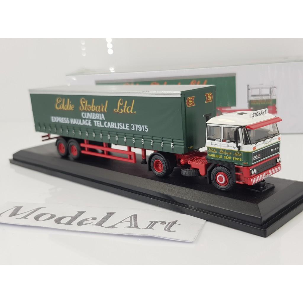 Atlas 1//76 Eddie Stobart DAF 2800 Curtainside Gemma Lindsay T101