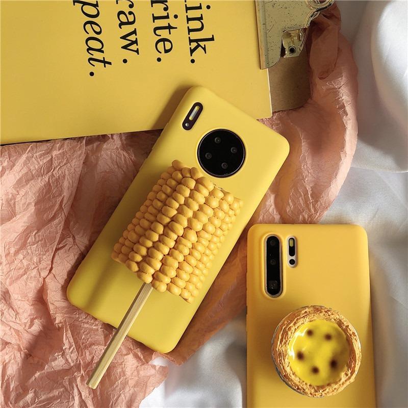 創意立體仿真玉米棒蛋撻LG V60 k51s k61 k50s G8 G8s G8X V40 V50手機殼軟殼防摔