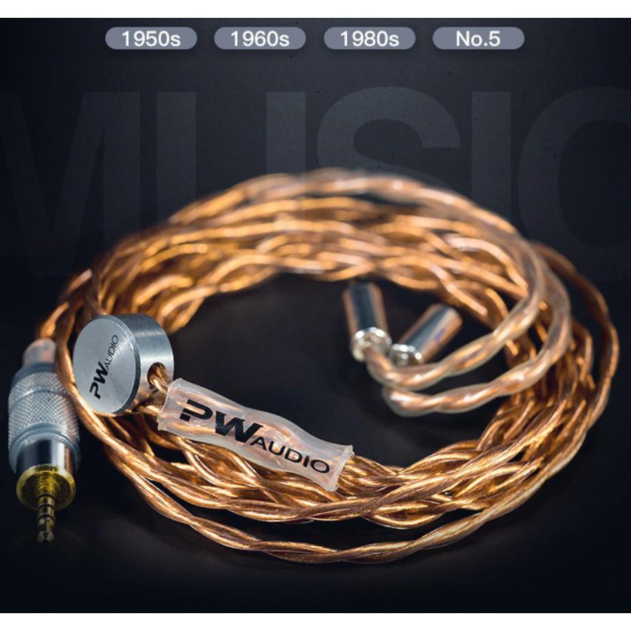 PW AUDIO 1950S 1960S 1980S No.5 單晶銅 HIFI 耳機 平衡 升級線 定制