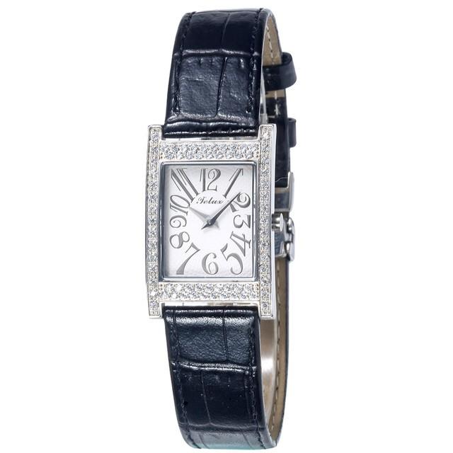 台灣品牌手錶腕錶【TELUX鐵力士】晶鑽仕女腕錶手錶35mm台灣製造石英錶606M-BK白面皮帶