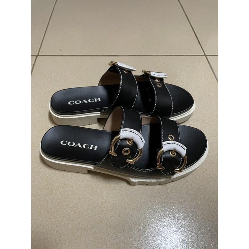 Coach PIPER黑色涼鞋/拖鞋(正櫃款)