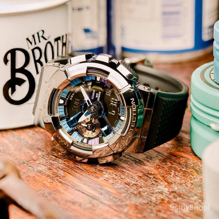 CASIO卡西歐G-SHOCK金屬彩虹GM-110手錶GM-110-1A/110B/110G-1A9