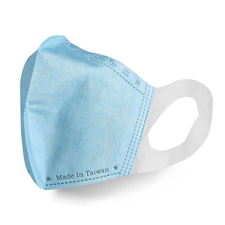 格安德GRANDE 醫用口罩50入/包(藍色),鋼印立體成人彩色口罩,台灣製造,MIT