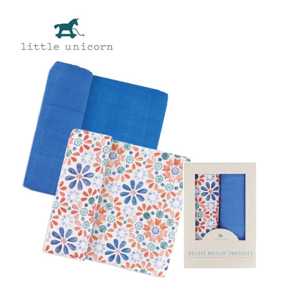 美國【Little Unicorn】 竹纖維紗布巾兩入組(4款可選)