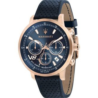 MASERATI WATCH 瑪莎拉蒂手錶 R8871134003 GT藍面光動能三眼計時腕錶  原廠正貨
