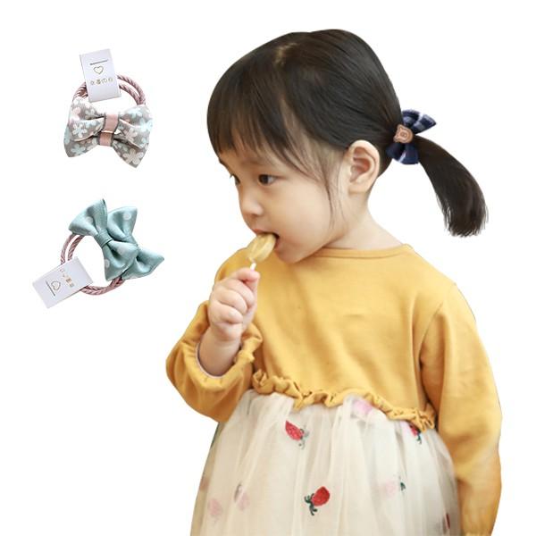 兒童髮圈 5對入蝴蝶結髮圈 髮飾 雪倫小舖
