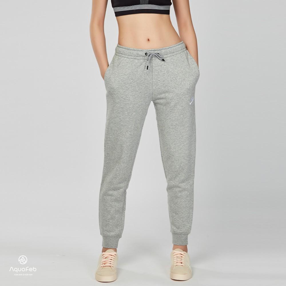 Nike Sportswear Essential Pant 女子 灰色 刷毛 抽繩 運動長褲 BV4096-063