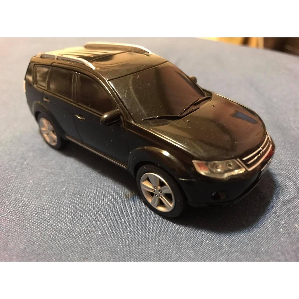 三菱國產原廠回力車 outlander 1/43 黑色模型 模型車 二手品 無盒