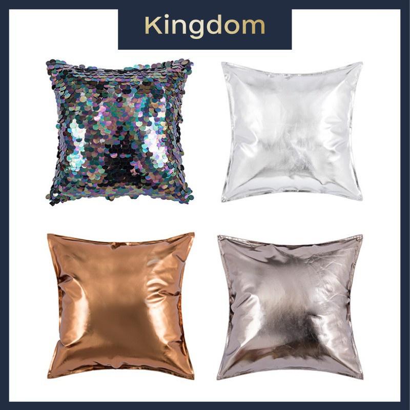 2021 年趨勢新品上市閃光枕套 Kpop Instagram PU 皮革墊閃亮枕頭套臥室枕頭客廳辦公室閃閃發光的枕頭
