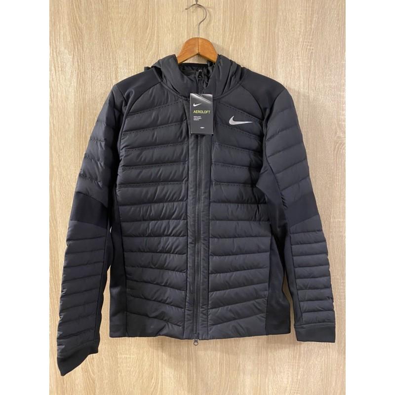 Nike warmth lightweight Aeroloft pro羽絨連帽外套 黑 輕便頂級型 jordan